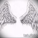 Необычный эскиз тату крылья – рисунок тату крыло подойдет для крылья дракона тату
