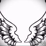 Необычный эскиз татуировки крылья – рисунок наколки крыло подойдет для тату крылья на запястье для девушек