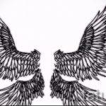 Крутой эскиз татуировки крылья – рисунок наколки крыло подойдет для тату крылья у девушек фото