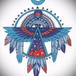 Крутой эскиз татуировки крылья – рисунок тату крыло подойдет для тату крест крыльями фото