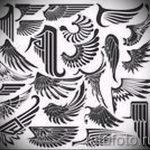 Интересный эскиз тату крылья – рисунок наколки крыло подойдет для крылья дракона тату