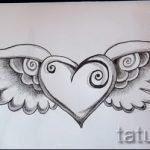 Классный эскиз тату крылья – рисунок наколки крыло подойдет для значат крылья тату