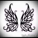 Крутой эскиз татуировки крылья – рисунок наколки крыло подойдет для тату крылья на спине у мужчин