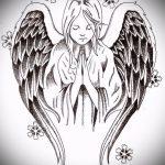 Необычный эскиз татуировки крылья – рисунок наколки крыло подойдет для эскизы тату девушек крылья