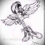 Крутой эскиз тату крылья – рисунок тату крыло подойдет для тату ангельские крылья на спине
