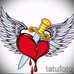 Интересный эскиз татуировки крылья – рисунок наколки крыло подойдет для дети крылья тату