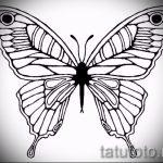 Интересный эскиз татуировки крылья – рисунок наколки крыло подойдет для тату звезда крылья
