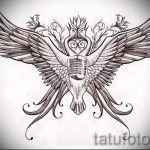 Классный эскиз татуировки крылья – рисунок тату крыло подойдет для тату человек крыльями