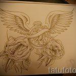 Необычный эскиз татуировки крылья – рисунок тату крыло подойдет для тату крыло на руке