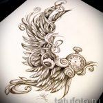 Интересный эскиз татуировки крылья – рисунок наколки крыло подойдет для тату кошка с крыльями значение