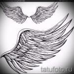 Интересный эскиз тату крылья – рисунок наколки крыло подойдет для что значит тату крылья