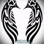 Классный эскиз татуировки крылья – рисунок тату крыло подойдет для тату крылья на пояснице