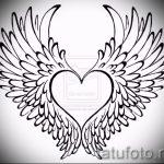 Интересный эскиз татуировки крылья – рисунок наколки крыло подойдет для тату крылья на руке мужские