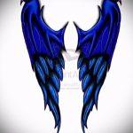 Необычный эскиз тату крылья – рисунок наколки крыло подойдет для змея крыльями тату