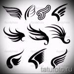 Классный эскиз татуировки крылья – рисунок тату крыло подойдет для крыло ангела демона тату