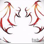 Необычный эскиз татуировки крылья – рисунок тату крыло подойдет для тату расправленные крылья