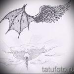 Необычный эскиз тату крылья – рисунок наколки крыло подойдет для крылья тату на ключицах