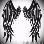 Классный эскиз тату крылья – рисунок тату крыло подойдет для что обозначает тату крылья