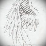 Необычный эскиз татуировки крылья – рисунок наколки крыло подойдет для тату крылья обозначение