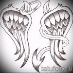 Крутой эскиз татуировки крылья – рисунок наколки крыло подойдет для что значит тату крылья на спине