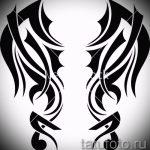 Интересный эскиз тату крылья – рисунок тату крыло подойдет для тату крылья на руке у девушек