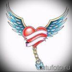 Интересный эскиз тату крылья – рисунок тату крыло подойдет для тату крылья на шее