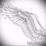 Необычный эскиз тату крылья – рисунок наколки крыло подойдет для что означает тату крылья ангела на спине