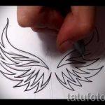 Классный эскиз тату крылья – рисунок тату крыло подойдет для тату льва с крыльями