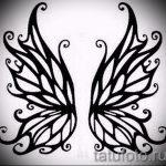 Крутой эскиз татуировки крылья – рисунок наколки крыло подойдет для тату девушка с крыльями