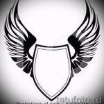 Интересный эскиз татуировки крылья – рисунок наколки крыло подойдет для что означает тату крылья на спине