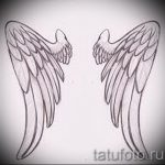 Крутой эскиз татуировки крылья – рисунок тату крыло подойдет для тату в виде крыльев на спине