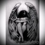Необычный эскиз тату крылья – рисунок наколки крыло подойдет для значение тату ангела с крыльями