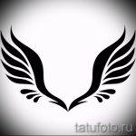 Крутой эскиз тату крылья – рисунок тату крыло подойдет для тату сердце с крыльями