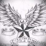 Классный эскиз тату крылья – рисунок тату крыло подойдет для тату крылья на спине у мужчин