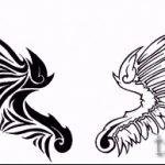 Крутой эскиз тату крылья – рисунок наколки крыло подойдет для тату эскиз крест с крыльями