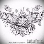 Классный эскиз тату крылья – рисунок наколки крыло подойдет для тату под крылом ангела