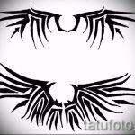 Интересный эскиз татуировки крылья – рисунок наколки крыло подойдет для змея крыльями тату