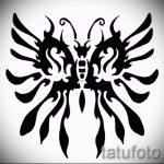 Интересный эскиз татуировки крылья – рисунок тату крыло подойдет для тату крылья на грудной клетке