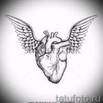 Интересный эскиз татуировки крылья – рисунок наколки крыло подойдет для тату человек крыльями