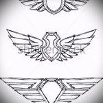 Крутой эскиз тату крылья – рисунок тату крыло подойдет для тату на шее крылья фото