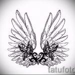 Интересный эскиз тату крылья – рисунок тату крыло подойдет для ангельские крылья тату