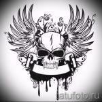 Крутой эскиз татуировки крылья – рисунок наколки крыло подойдет для тату рисунки крылья