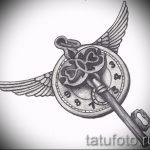Интересный эскиз татуировки крылья – рисунок тату крыло подойдет для обозначение тату крылья на спине