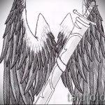 Крутой эскиз тату крылья – рисунок тату крыло подойдет для тату льва с крыльями