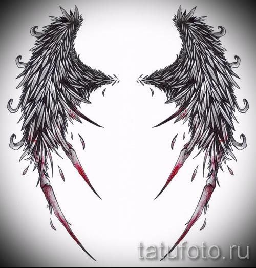 Татуировка крылья: 45 фото Значение, символизм
