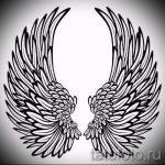 Классный эскиз тату крылья – рисунок тату крыло подойдет для тату крыло на предплечье