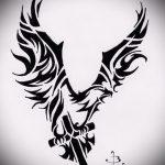 Интересный эскиз тату крылья – рисунок тату крыло подойдет для красивые тату крылья