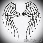 Необычный эскиз тату крылья – рисунок наколки крыло подойдет для тату в виде крыльев на спине