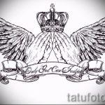 Необычный эскиз татуировки крылья – рисунок наколки крыло подойдет для что означает тату крылья на спине
