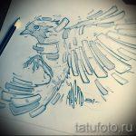 Необычный эскиз тату крылья – рисунок тату крыло подойдет для тату под крылом ангела